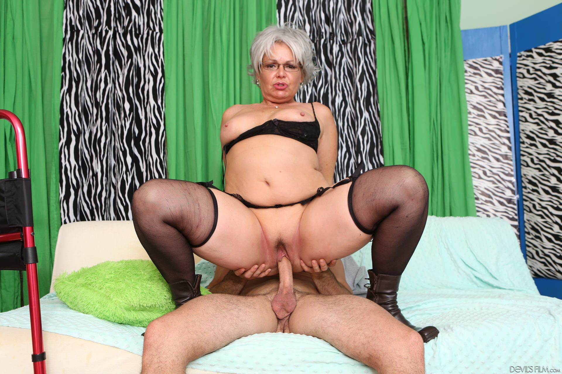 Horny grandma eodit is fucking with a much younger